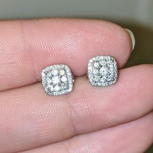 LARGE 1/2 Carat Diamond Earrings, Solid 14k Gold